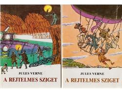 Jules Verne A rejtelmes sziget I-II.  Példátlan erejű szélvihar sodorja a Csendes-óceán vízsivatagja