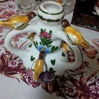 Kispest pecsétes kis korsó, madárkákkal