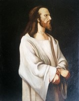 Munkácsy Mihály után! Krisztus Pilátus előtt! 1900as évek első feléről, egy igazán hatásos festmény!