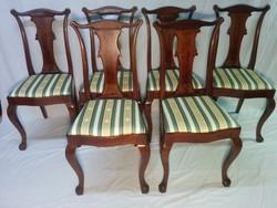 Victorian style 6 walnut chairs