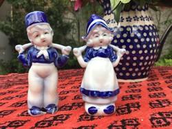 Japán porcelán figurák, pár, szobrocska