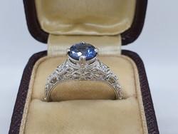 1.14Cts Tanzanit Köves Ezüst Gyűrű