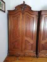 Hét részes antik bécsi barokk stílusú hálószoba bútorzat