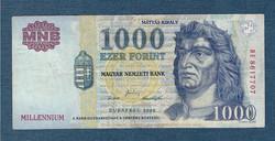 2000 1000 Forint DE sorozat  Millennium VF