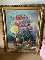 Olaj-vászon festmény Csendélet szignózott