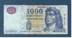 2015 1000 Forint DE sorozat