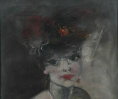 Jean-Gabriel Domergue (1889-1962): Párizsi nő portréja