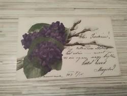 Antik Üdvözlő képeslap. (1903).