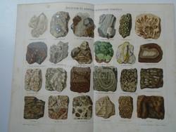 G2021.172 Ásványok  és kőzetek  képződési viszonyai  - színes nyomat ca 1892  Pallas