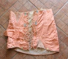 Régi, szép állapotú, rózsaszínű vászon fűző -Hordható