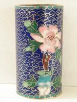 Rekeszzománc díszes kis keleti váza