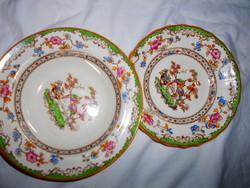2 db Copeland Spode antik fajansz  tányér együtt