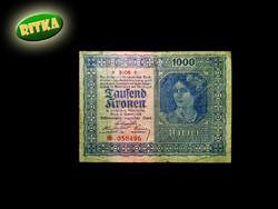 1000 KORONA - WIEN 1922 .- MA MÁR RITKASÁG (csillagozott!)