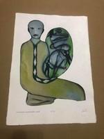 FeLugossy László (1947-)Munkácsy-díjas festő Grafikai 'I' mappa /2009/ 5db.alkotást tartalmaz