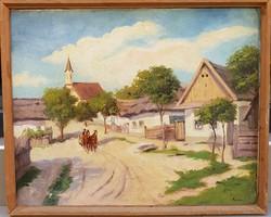 Kovács F. jelz.: Falurészlet,  XX.sz. eleje