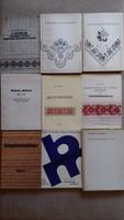 Hímzés-, szőttes-, horgolóminta gyűjtemény (9db)