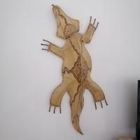 Gekkó fali dísz dekor bőr, 1 m!