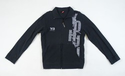 0V889 Y-3 fekete cipzáras férfi pulóver M