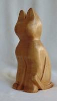 Art deco stílusú fa cica macska szobor