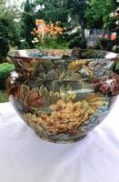 Monumentális Olasz porcelan kaspó