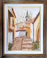 Losonci Lilla - Szentendre 40 x 30 cm olaj, prespán lemez, keretezve