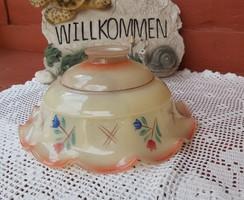 Régi konyhai fodros virágos búra lámpabúra  nosztalgia, paraszti falusi  dekoráció