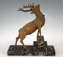 Sérült szarvas szobor -   Georges Omerth
