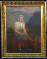 Szüle Péter (1886-1944) Ülő hölgy portréja
