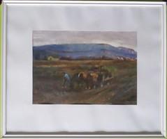 Zirkelbach László: Táj lovaskocsival
