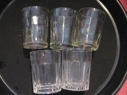 Retro régi pálinkás poharak 4 cl-es vegyes, Salgótarján