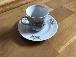 Alföldi rózsa mintás porcelán kávés / mokkás csésze + alj