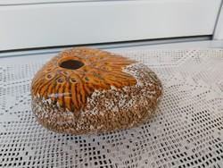 Ritkább   narancsos színű Ikebana váza, Gyűjtői darab, nosztalgia  Iparművészeti