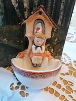 Hummel-Goebel bájos kézzel festett szenteltvíztartó