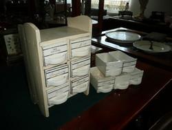 Gránit márkájú antik 6 fiókos fűszertartó + 5 db tartalék rekesz egyben eladó