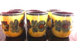 6 majolica glasses from Városlőd