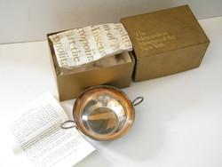 Jacob Boelen borkóstoló ezüst pohár múzeumi másolta (ezüstözött)