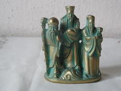 Kínai Bölcsek műgyanta szobor, figura