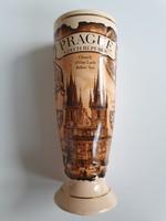 Prágai emlék kehely, váza