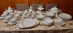 Hollóházi porcelán komplett készlet ( ét-kávés-teás)