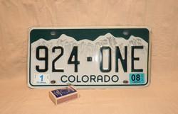 USA COLORADO 924-ONE rendszám