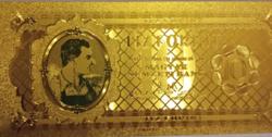 24 kt arany, 1946-os 10 Forintos bankjegy certificáttal