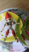 Karácsonyfadísz, régi üveg, figurális ritkaság