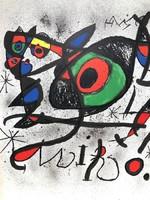 Joan Miró   eredeti litográfiai plakátja  84 x 56 cm