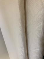 Krém színű nagyméretű avatatlan függönypár 2,30*2,20