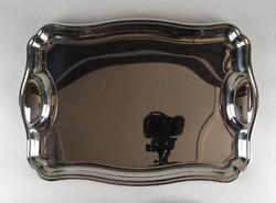 1F187 Nagyméretű rozsdamentes fém tálca kínáló tál 30 x 50 cm