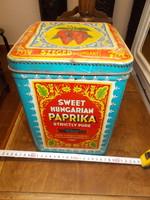 Antik szegedi paprikás doboz,nagyméretű