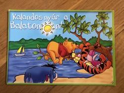 """Aranyos jópofa """" Kalandos nyár a Balatonon """" - Micimackós képeslap"""