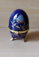 Porcelán tojás ékszertartó