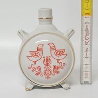 Madár motívumos Drasche porcelán kulacs (1828)