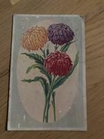 Virágos képeslap - 30 -as évekbeli